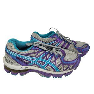 ASICS Gel-Kayano 20 Gray Purple & Turquoise 3